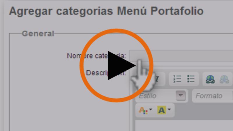 Cómo crear una categoría o menú